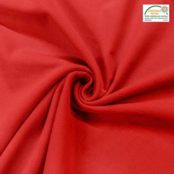 Velours cotelé fin rouge