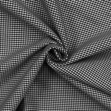 Tissu petits carreaux noirs et blancs