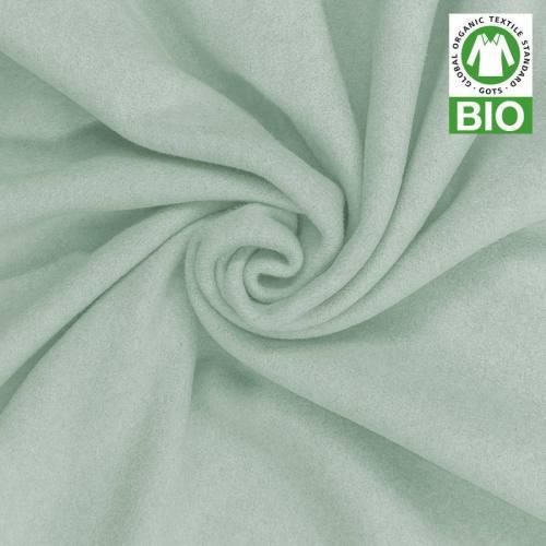 Polaire bio vert d'eau 100% coton