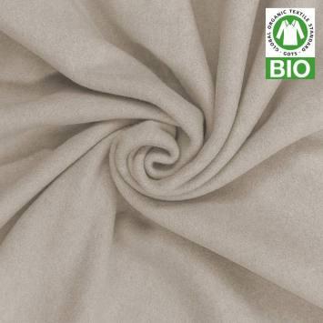 Polaire bio grège 100% coton