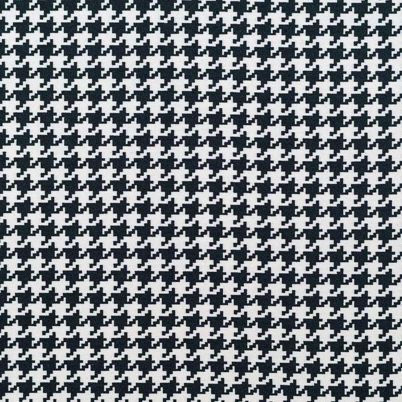 tissu bengaline pied de poule blanc et noir pas cher. Black Bedroom Furniture Sets. Home Design Ideas